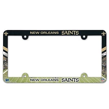 Amazon.com : NFL New Orleans Saints LIC Plate Frame Full Color ...