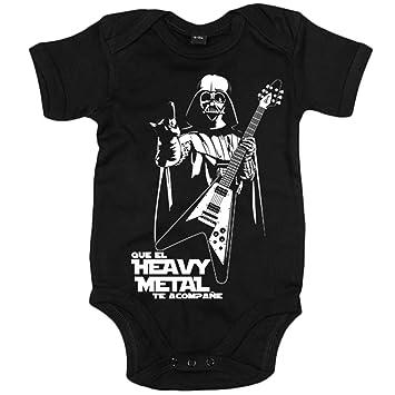 Body bebé Que el Heavy Metal te acompañe - Negro, 12-18 meses