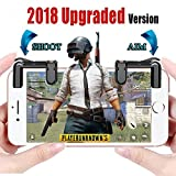 Cheap [Upgraded Version] Mobile Game Controller – Sensitive Aim Triggers for PUBG/Rules of Survival – L1R1 Mobile Game Trigger Joystick Gamepad for Android IOS