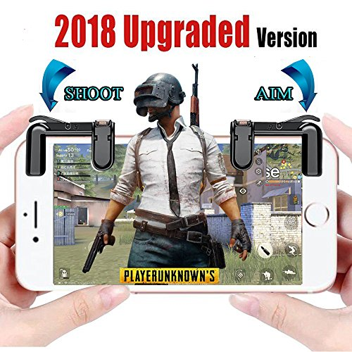 [Upgraded Version] Mobile Game Controller - Sensitive Aim Triggers for PUBG/Rules of Survival - L1R1 Mobile Game Trigger Joystick Gamepad for Android IOS