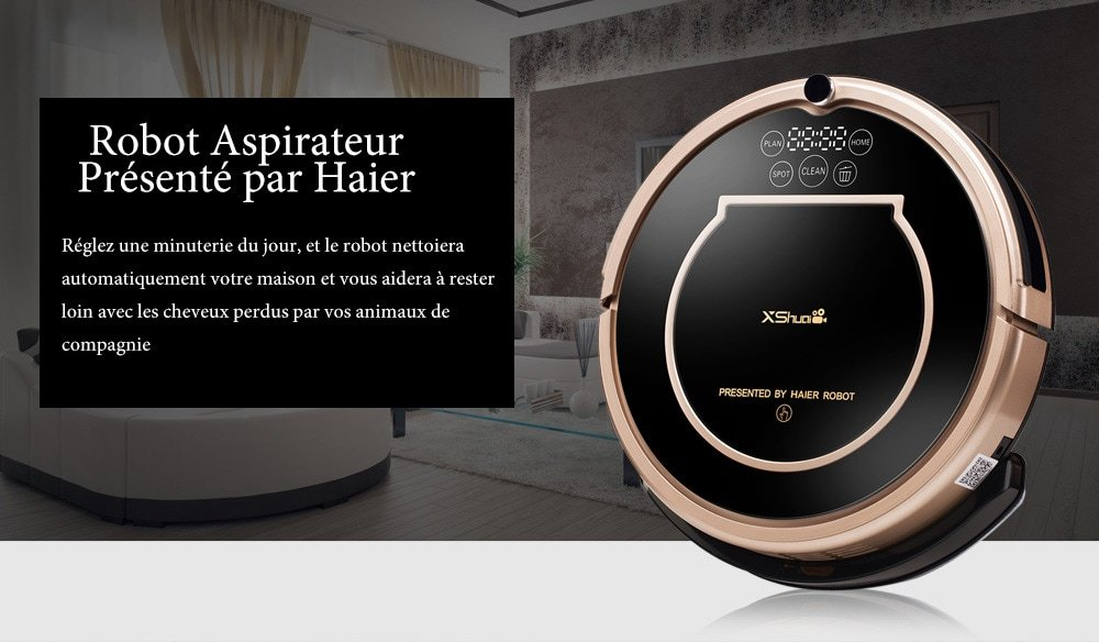 Haier xshuai T370 Robot aspirador con control de voz Siri & Alexa ...