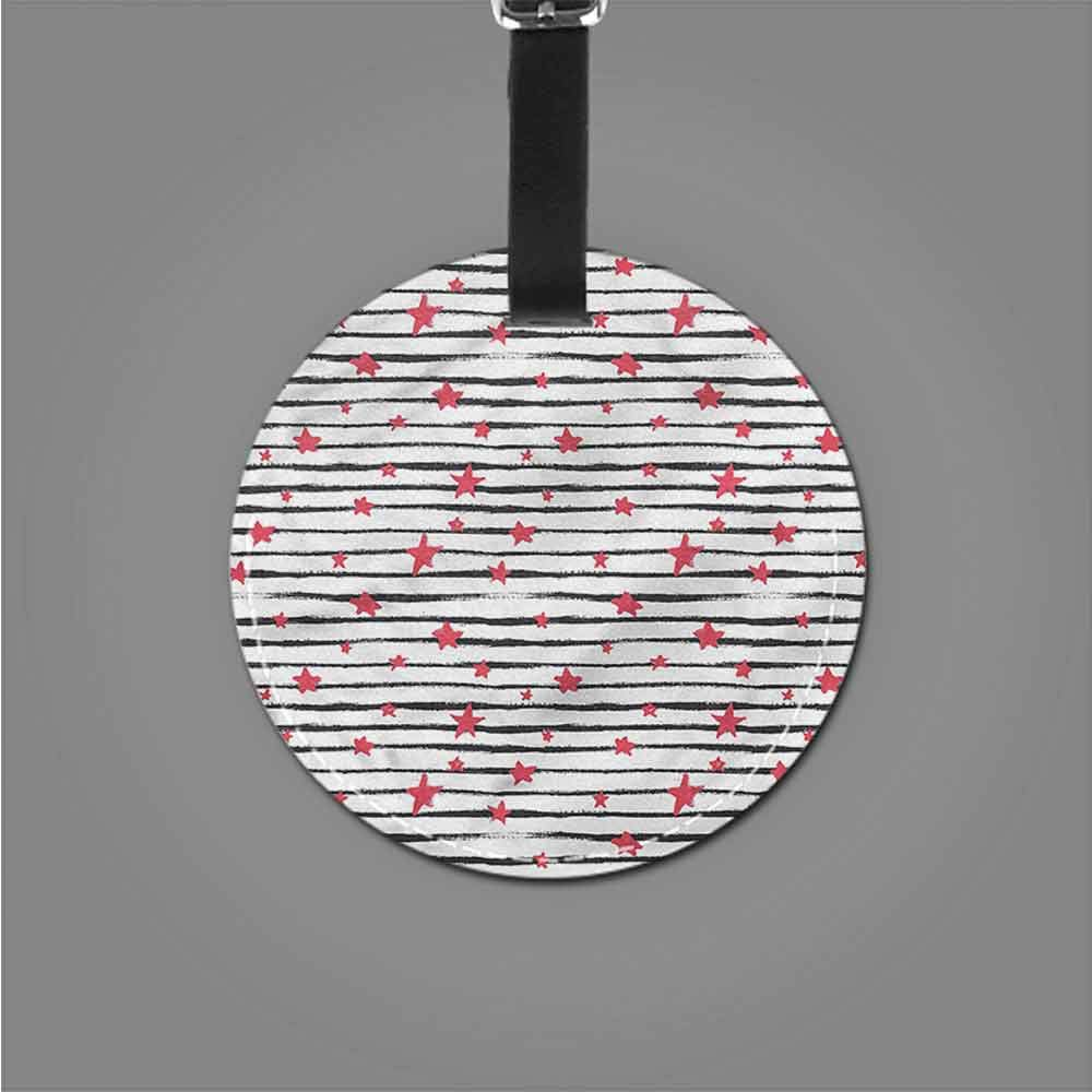 Fashion Address tag Abstract,Horizontal Stripes Romantic