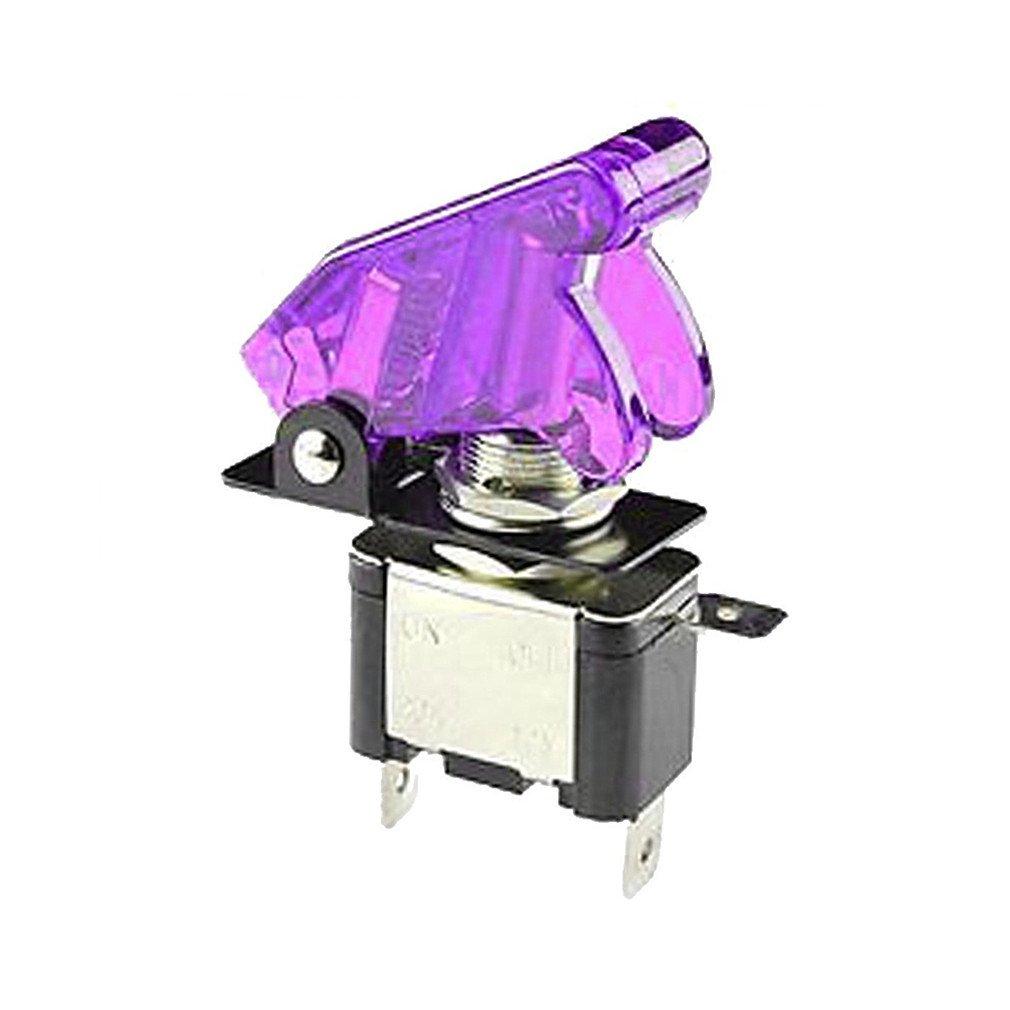 Qiorange 2x 12V//20A Car Auto Switch On//off SPST Toggle Switch LED Illuminated Blue 2Pcs
