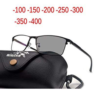 9731fec351 MINCL Transition Sunglasses Photochromic myopia Eyeglasses Finished myopia  Glasses for Men Computer Optical Glasses Frame