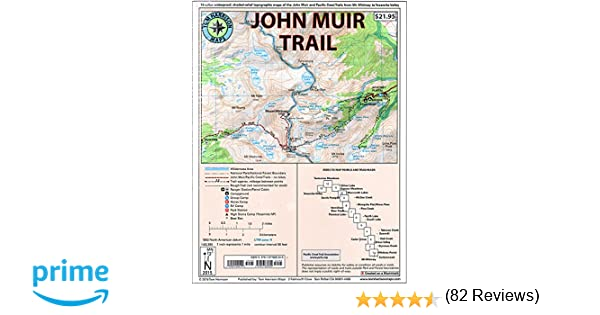 John Muir Trail Map-Pack: Shaded Relief Topo Maps (Tom Harrison ...