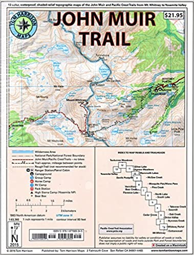 John Muir Trail Map-Pack: Shaded Relief Topo Maps (Tom Harrison Maps