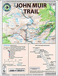 John Muir Trail Map-Pack: Shaded Relief Topo Maps (Tom Harrison Maps) (1877689343) | Amazon Products