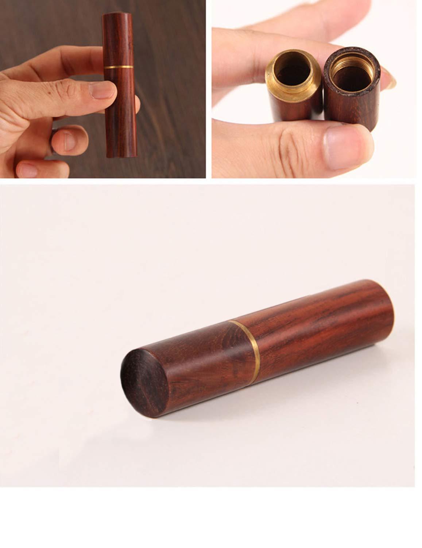 SunTrade 2pcs Portable Wooden Pocket Toothpick Holder Sewing Needles Storage Needle Case