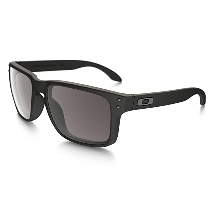 403a6816a9 Oakley Holbrook Matte Black w Warm Grey OO9102-01 + Free SD Glasses+Cleaning  Kit  Amazon.ca  Clothing   Accessories