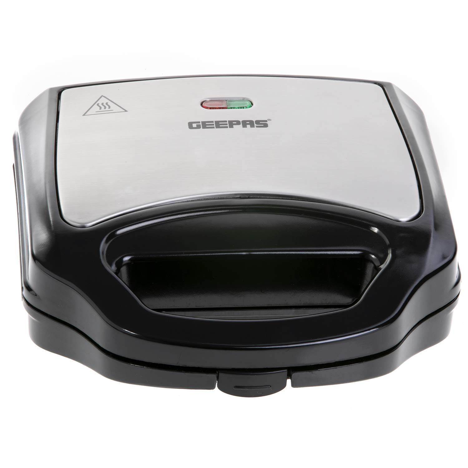 Geepas 2 Slice Sandwich Maker for Cooking Delicious Crispy Sandwiches, with Cool Touch Handle, Automatic Temperature Control and Non-Stick Plate