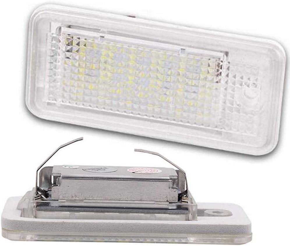 4B berline 1997-2004 6500K Boomboost Lampe de num/éro de Plaque dimmatriculation LED 2PCS 18SMD pour Audi A6 C5