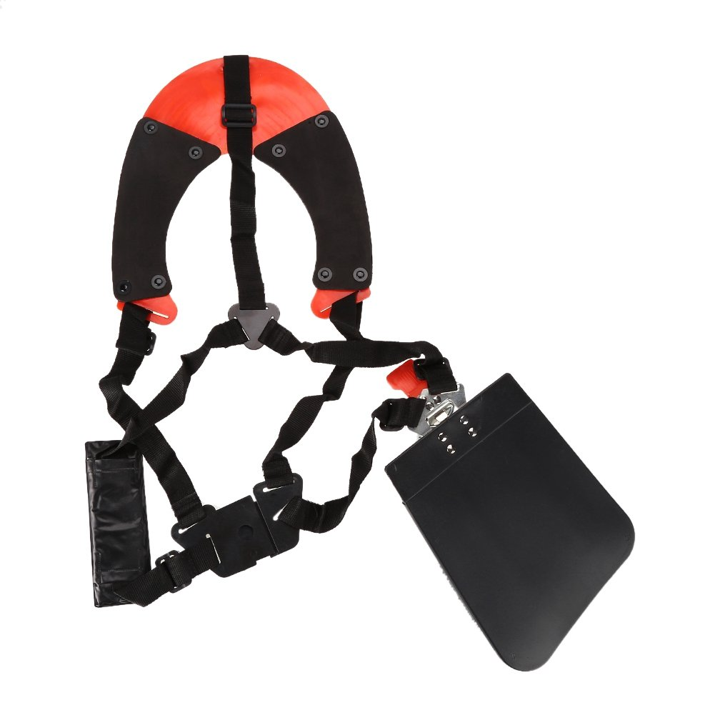 Zerodis Professional Trimmer Shoulder Strap Universal Fit Mower Trimmer Harness Strap Adjustable Padded Strap with Double Durable Nylon Belts for Garden Brush Cutter Lawn Mower