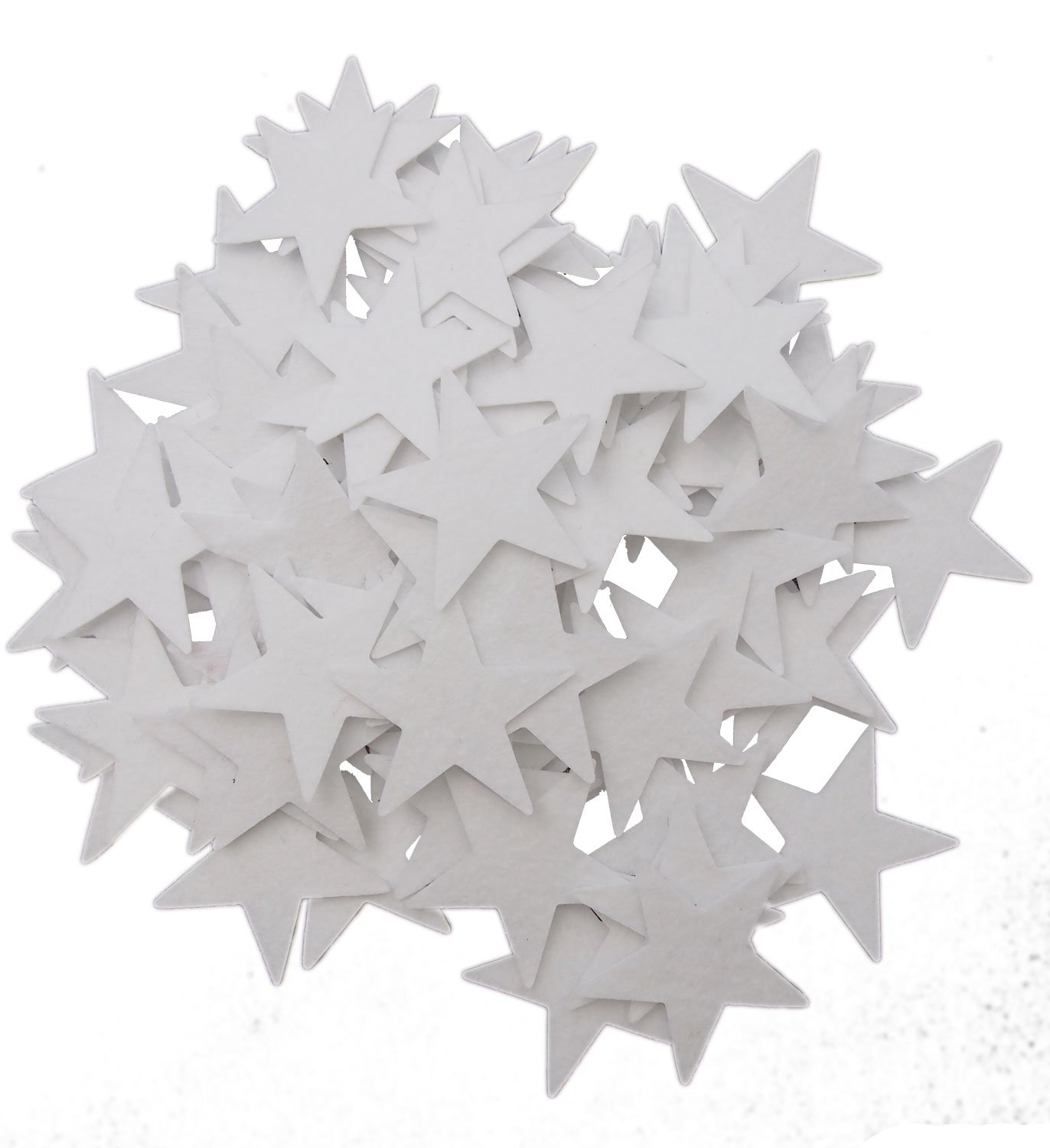 Playfully Ever After 1.5 Inch White 85 pc Felt Star Stickers PEA-FELT-STKYSTAR-85White