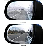 MOOKLIN 2 Pieces Car Rear View Mirror Protective Film, HD Anti-Fog/Anti-Glare/Anti-Scratch Car Mirror Rainproof Film for All Automobile and Vehicle Models (100x145 mm)