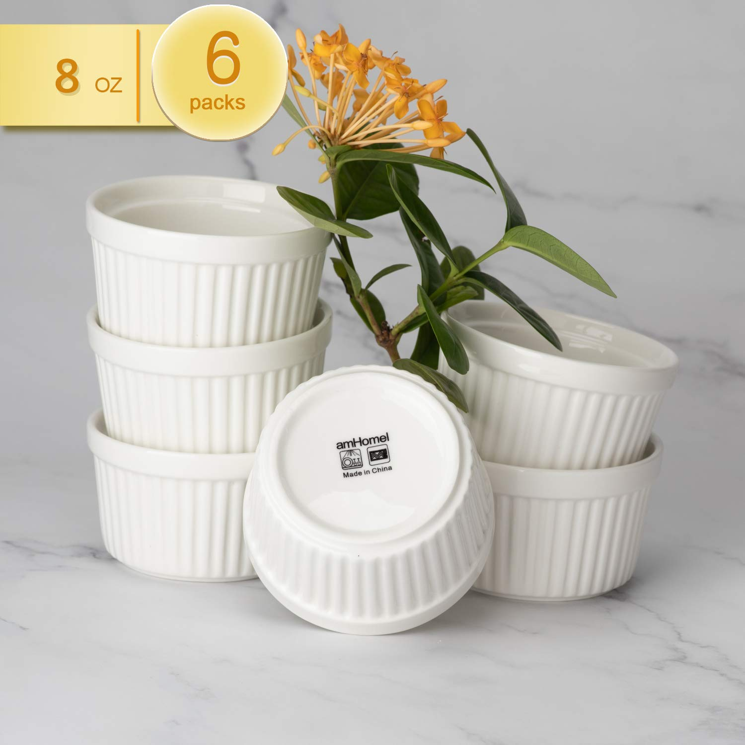 amHomel Porcelain Souffle Dishes by amHomel