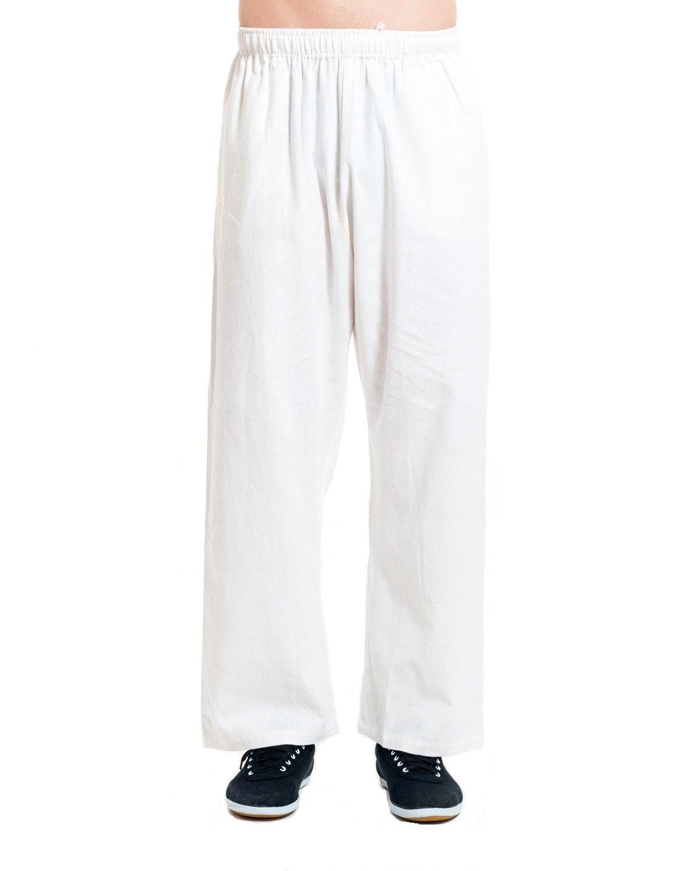 ICNBUYS Men's Tai Chi Pants Cotton Linen MTCPCLB00