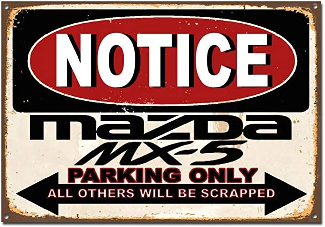 NOTICE HUSQVARNA  PARKING ONLY METAL TIN SIGN POSTER WALL PLAQUE