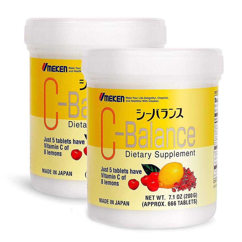 2X Umeken C-Balance (200g) - Highly Concentrated Vitamin C containing antioxidants, Citric Acid, Great for Kids. Made in Japan. About a 8 Month Supply. (Large Size)