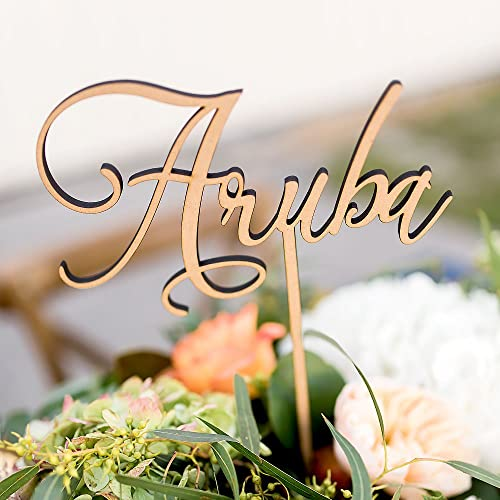 Amazon Custom Table Number Words On Sticks Tall Wooden Words