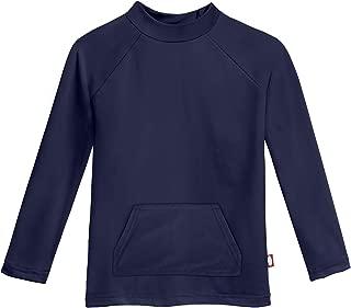 product image for City Threads Boys' UPF50+ Long Sleeve Pocket Rash Guard Sun Swimming Tee - Made in USA