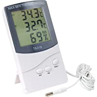DIGIFLEX Thermomètre numérique 2 capteurs intérieur extérieur température, alarme, météo