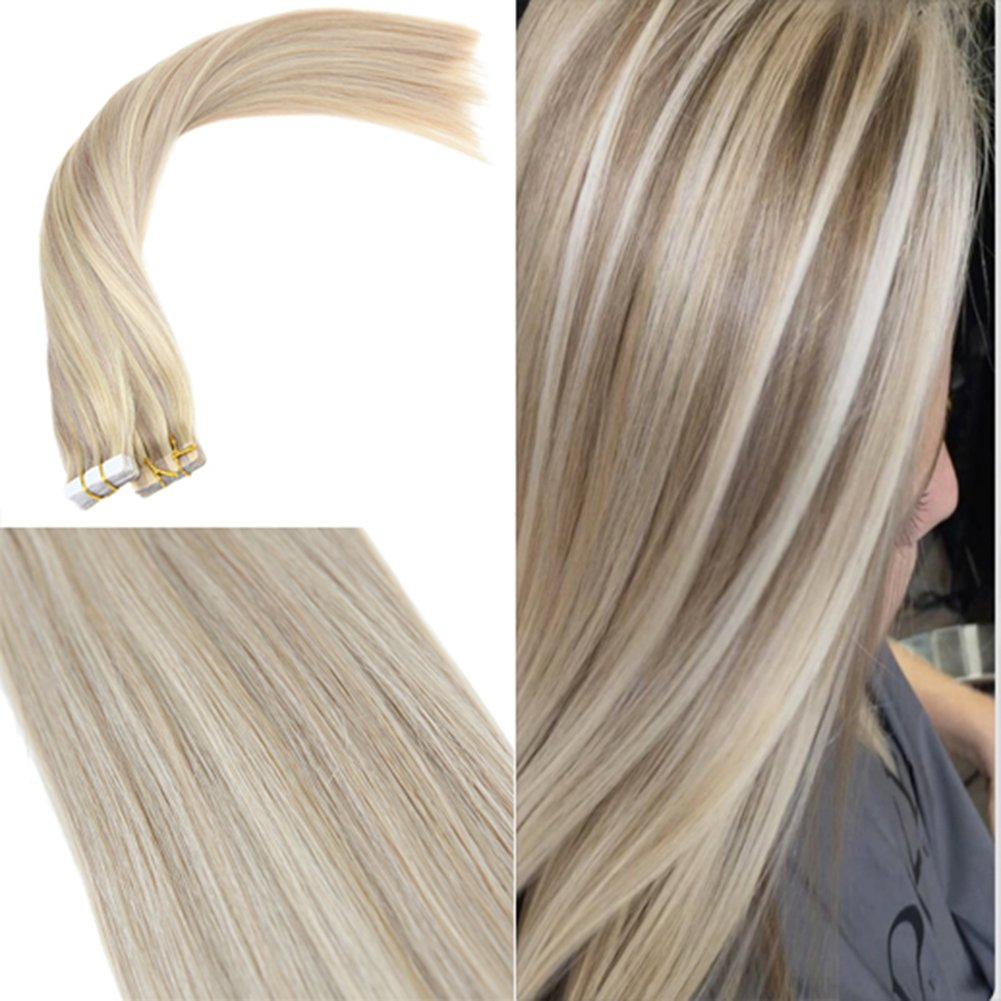Amazon Youngsee 16inches Blonde Highlight Tape In Hair