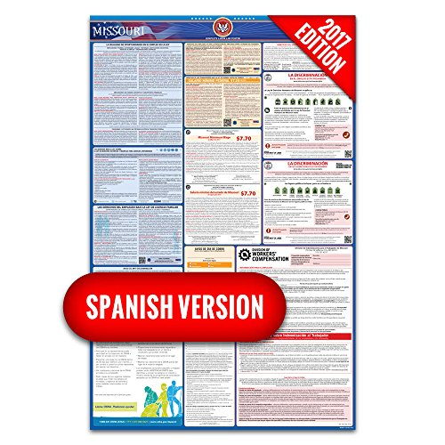 2017 Missouri (Spanish) Labor Law Poster – State & Federal Compliant – Laminated