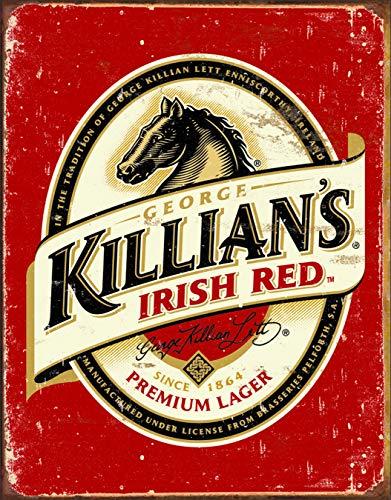 (Desperate Enterprises Killian's Irish Red Beer Logo Tin Sign, 12.5