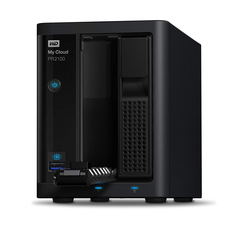 WD 20TB My Cloud Pro Series PR2100 Network Attached Storage - NAS - WDBBCL0200JBK-NESN