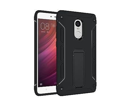 SainCat Funda Xiaomi Redmi Note 4, TPU Silicona con 3D Carcasa Case con Stand Holder Bumper Case Shockproof Silicona Transparente TPU protección ...