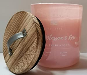 DW Home Apple Blossom & Rose Medium 1 Wick Candle