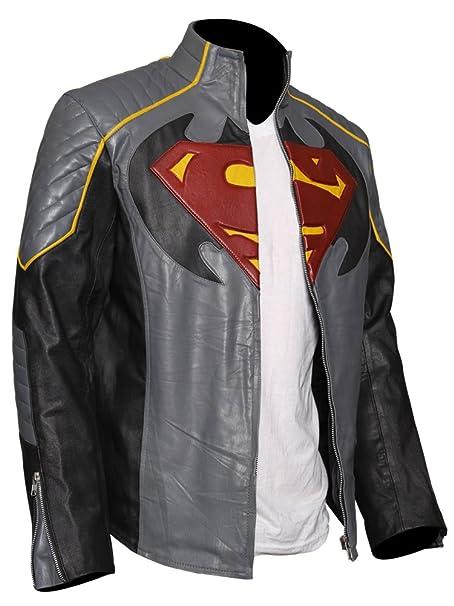 Amazon.com: Chaqueta de cuero para hombre de Batman VS ...