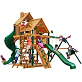 Great Skye I Swing Set Canopy: Wood Roof