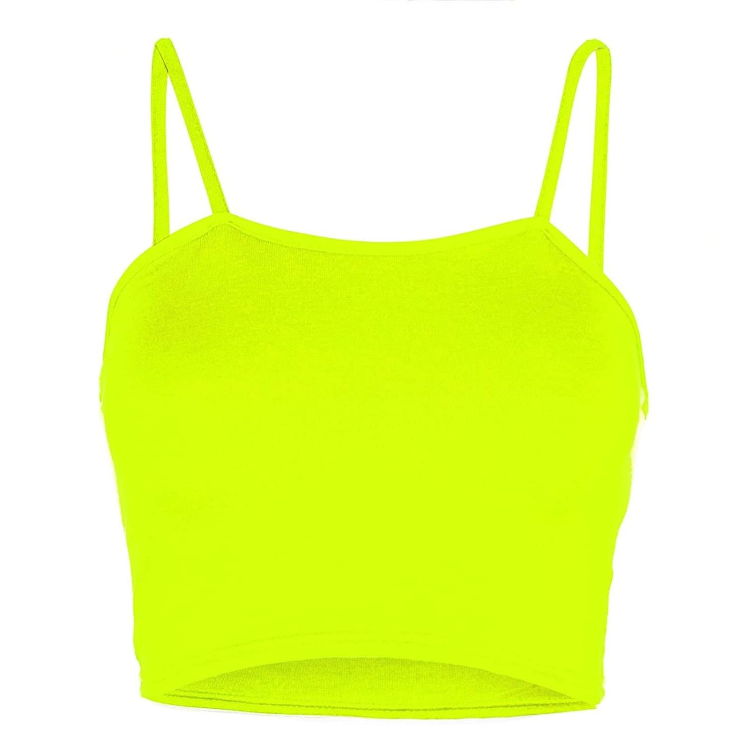 Womens Ladies Plain Sleeveless Strappy Cami Bandeau Boobtube Bralet Cropped Top