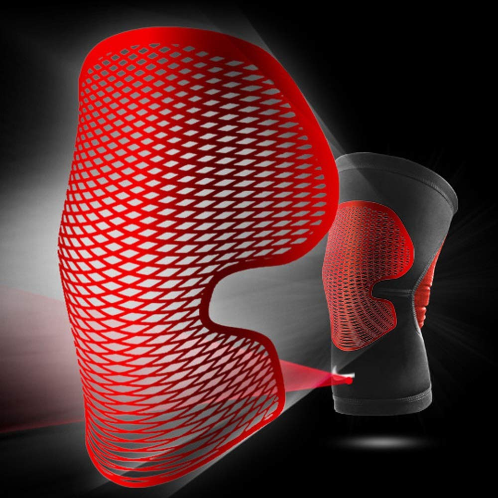 TY BEI Kneepad Sports Knee Pads Meniscus Outdoor Riding Knee Knee Pads - Three (Color : Red, Size : L) by TY BEI (Image #2)