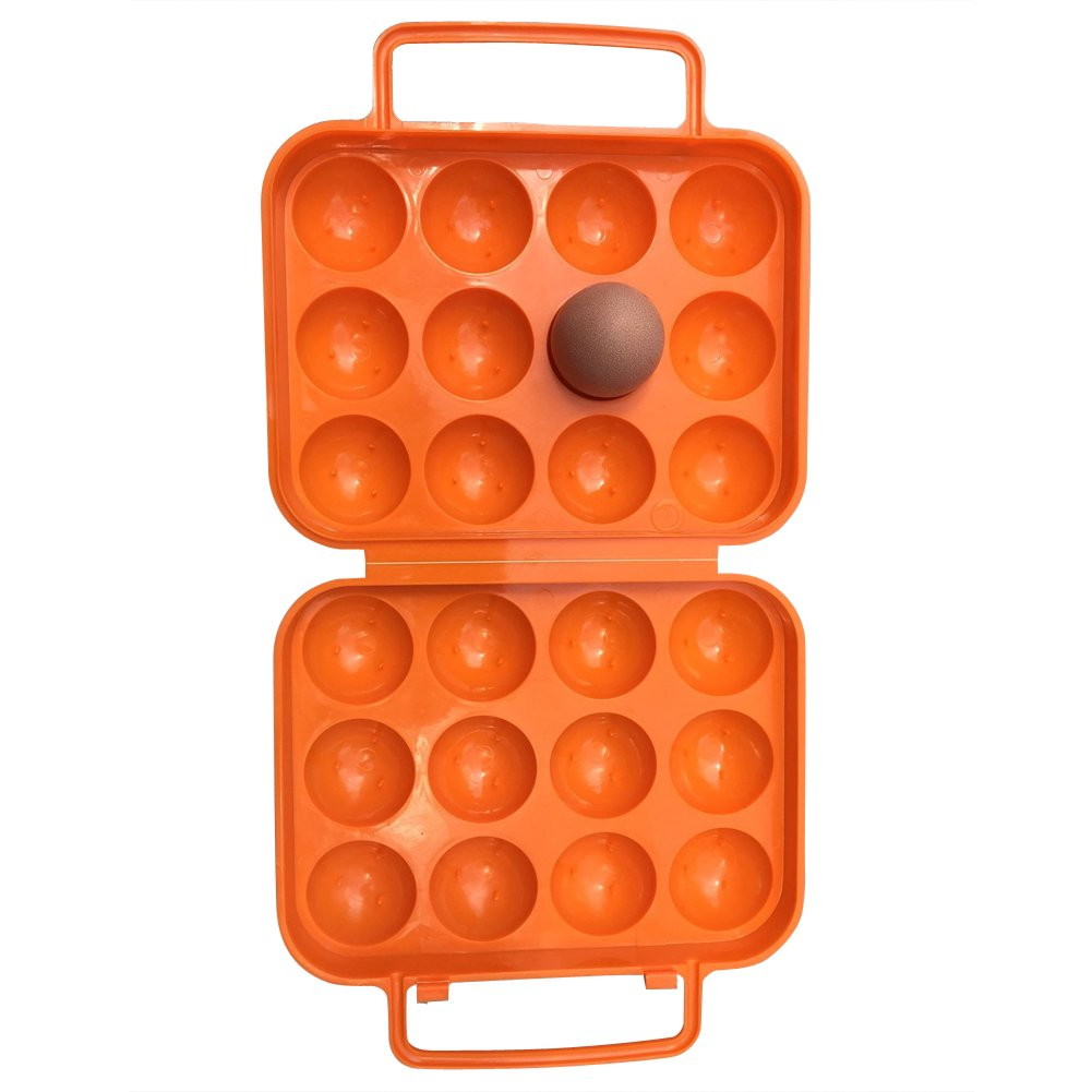 Egg Container, Outdoor Portable 12 Eggs Carriers/Holder Shockproof Storage Box - Camping Travel and Hiking(SNH01)(12)