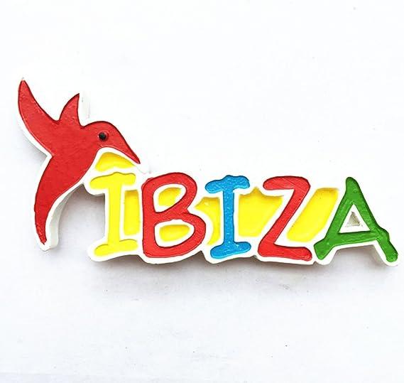 Imán para nevera con diseño 3D Ibiza España Souvenir, decoración ...