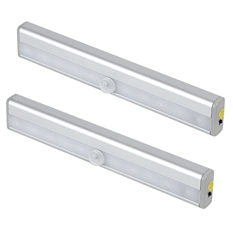 Vicloon 2Pcs LED Bajo la luz de la Lámpara de Gabinete,10 LED de Luz