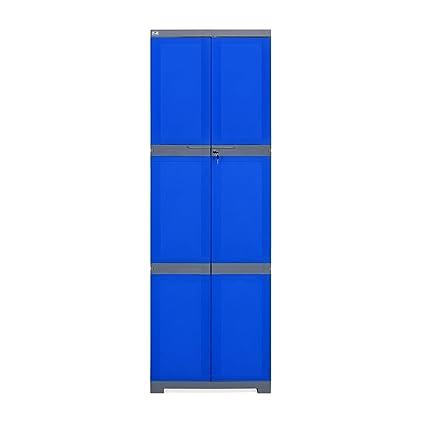 Nilkamal Freedom FML Mini Large Storage Cabinet (Blue And Grey)