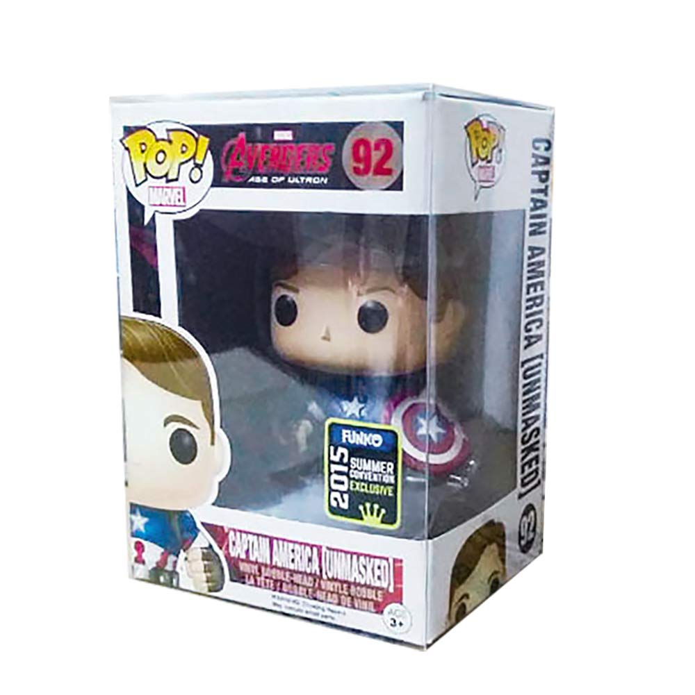 """Acid-Free Gechtas 0.5mm Thick 10 Pack Pop Protector Case for 4/"""" Boxed Pop Vinyl Figures Collectibles More Stackable"""