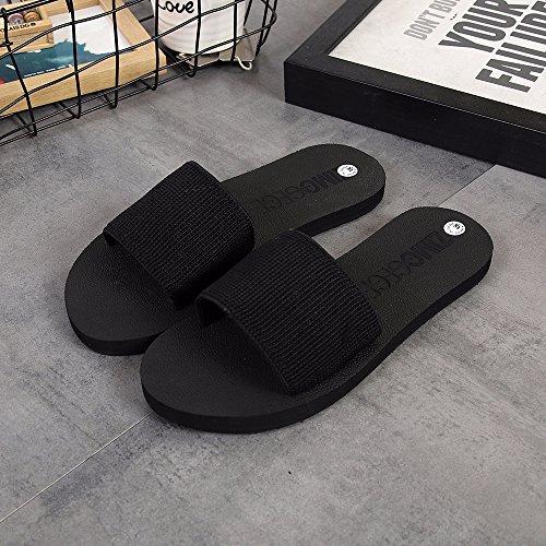 ha antiscivolo piatto fankou resort sandali moda Estate con fondo beach spiaggia prendere un donna 38 da sandali mano nero scarpe qSBwqxPT