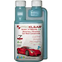 PROKLEAR® Waterless Dry Car Wash Concentrate RAW Xtreme CX Carnauba Wax Rinseless/Waterless Auto Wash Concentrate 250ml - 100 Washes Makes 50 liters