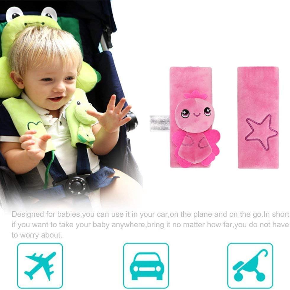 Newin Star Cintur/ón para ni/ños cintur/ón protectora para ni/ños cintur/ón para P/óster para silla coche y cochecito para proteger I Ni/ños Shoulder 16cm Green Frog 16 1/juego