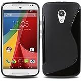 Plastron S Line TPU Soft Silicon Gel Back Case Cover for Motorola Moto G2 SEC Generation G2