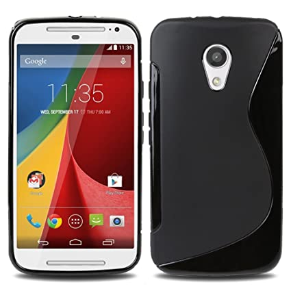 newest collection fbbe0 8e106 Plastron S Line TPU Soft Silicon Gel Back Case Cover for Motorola Moto G2  SEC Generation G2