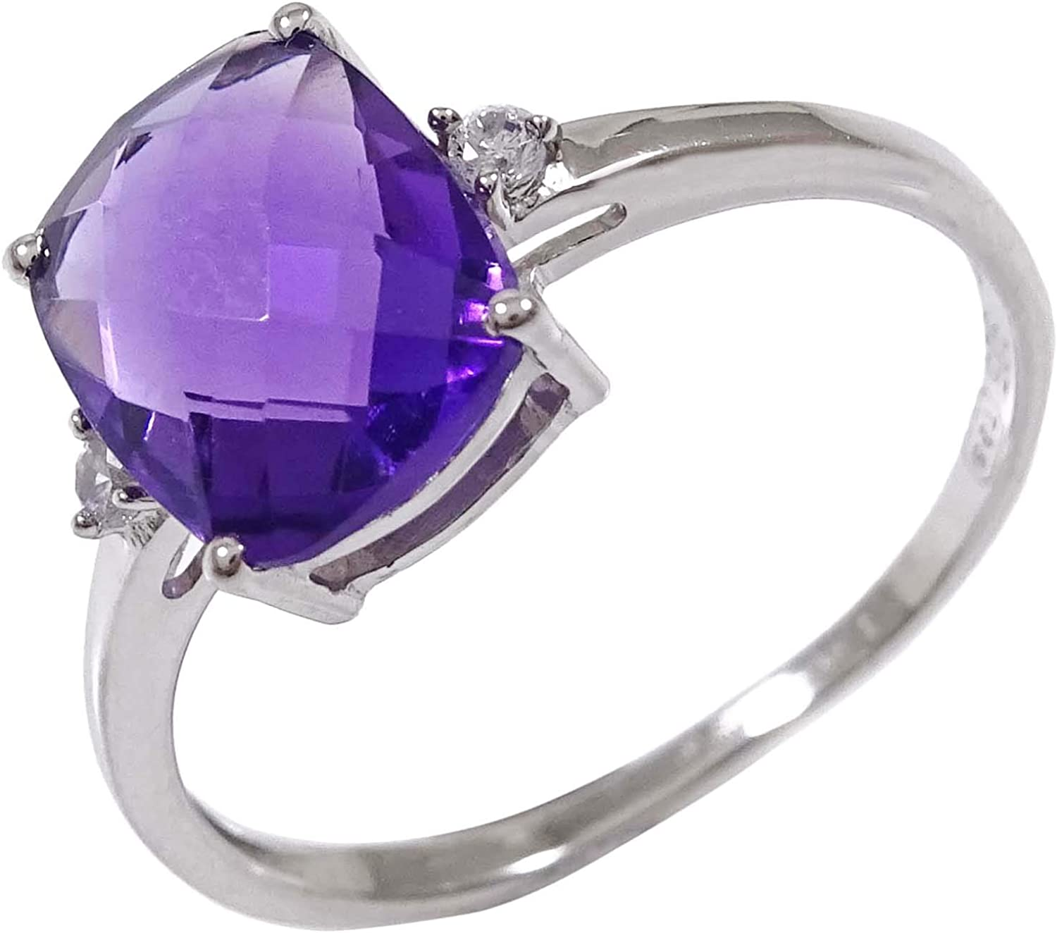 Banithani Brazil Amethyst 925 /Sterling Silver Rings For Women Indian Fashion Jewelry