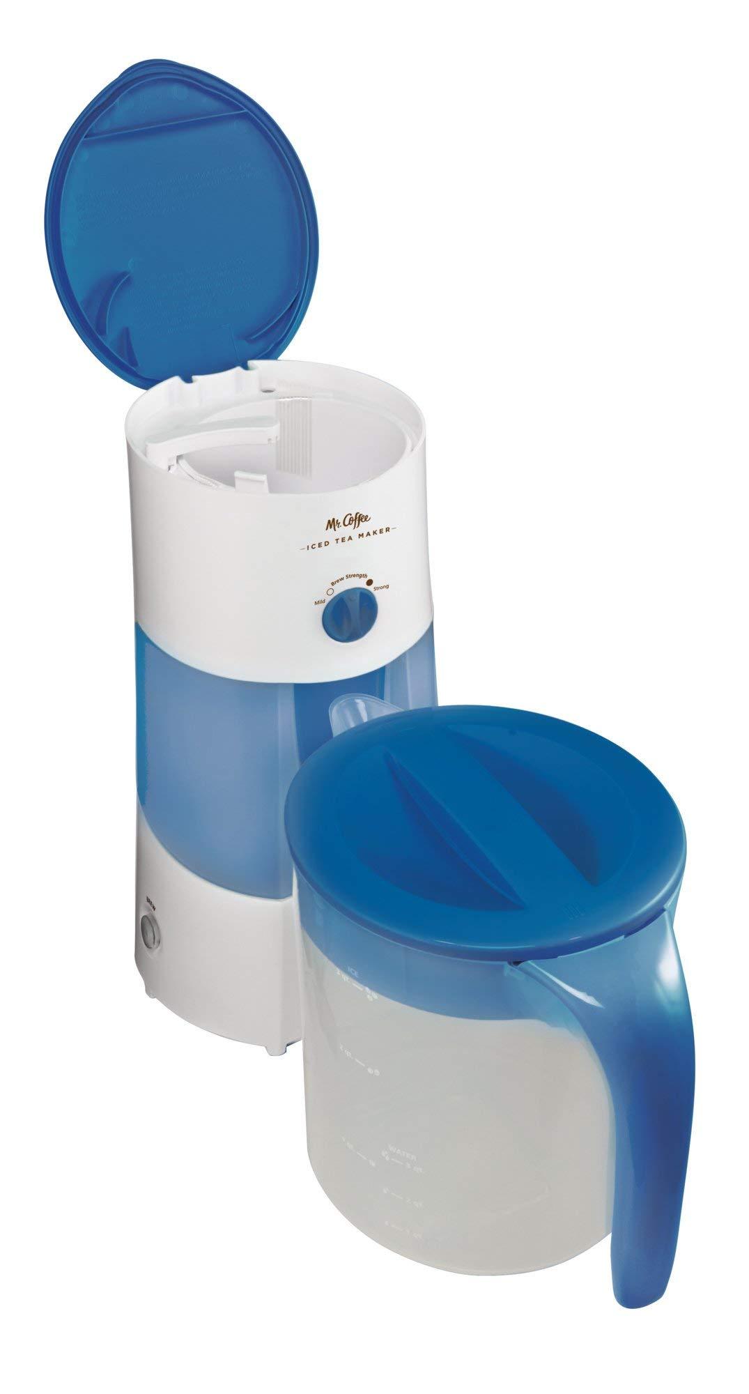 Mr. Coffee 3-Quart Iced Tea and Iced Coffee Maker, Blue (Renewed) by Mr. Coffee