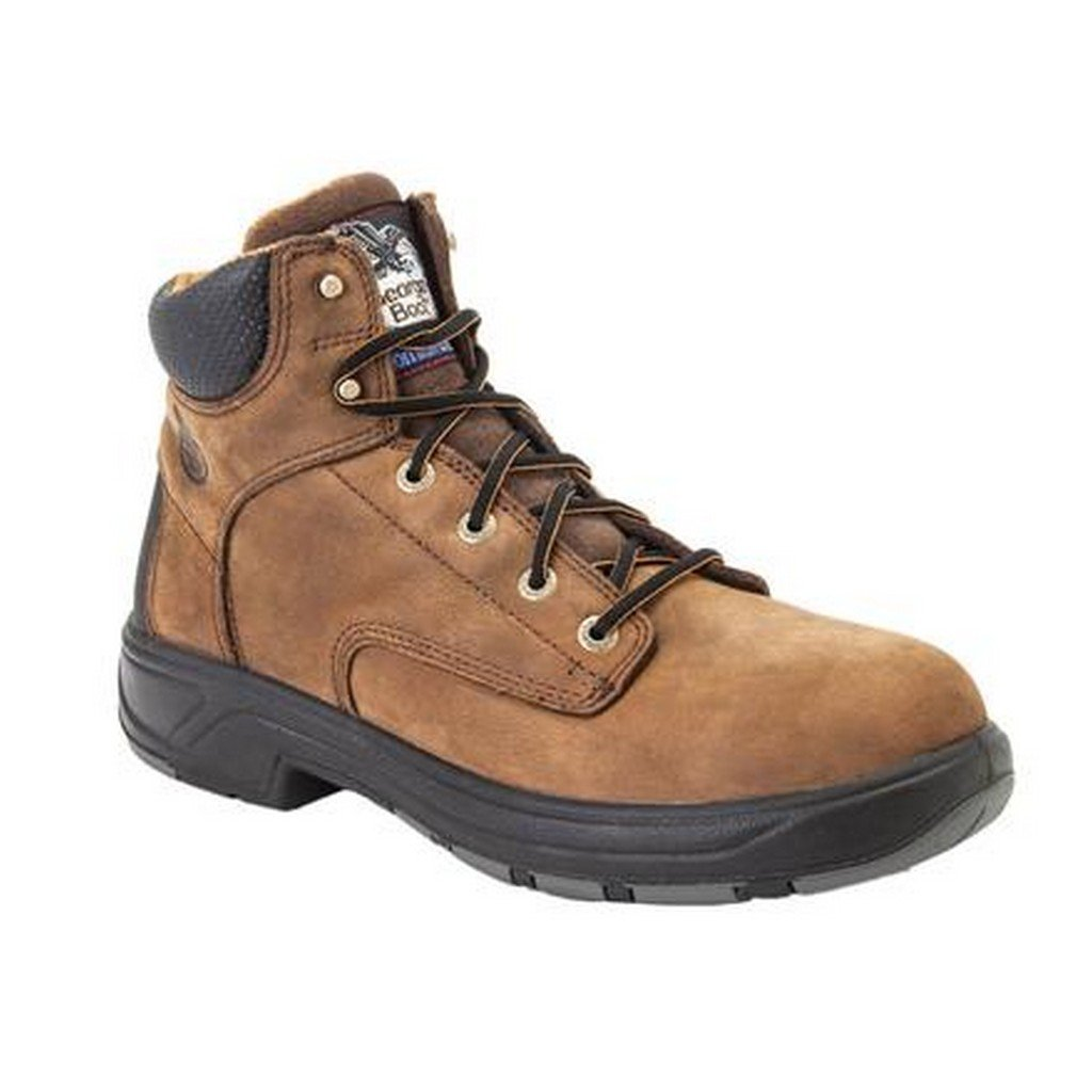 Georgia Boot Men's G6654 FLXPoint Composite Toe 6'' Work Boots, Brown,8 W US