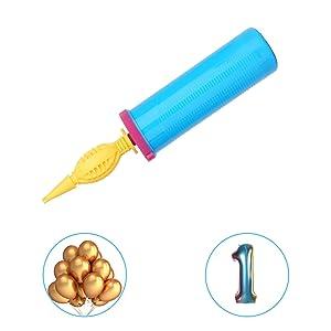 Siumir Bomba para Globos Bidireccional Hinchador de Globos Inflador de Globos Manual Bomba de Aire para Globos de Látex y Globos de Aluminio