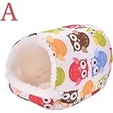 Ioffersuper 1 Pcs Pet Soft Pad/Bed/House/Nest Small Animal Cage For Hamster/Hedgehog/Rat/